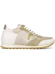Philippe Model Panelled Sneakers Metallic