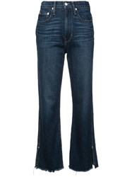 Proenza Schouler Pswl High Waisted Cropped Jeans Neutrals