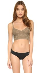 Free People Stretch Lace Crop Bra Taupe