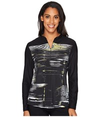 Jamie Sadock Staccato Long Sleeve Top Jet Black Women's Clothing