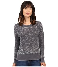 Allen Allen Long Sleeve Crew Deep Grey Women's Clothing Black