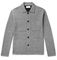 Mr P. Double Faced Knitted Chore Jacket Gray