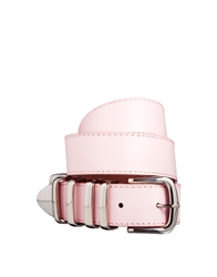 Asos Chunky Multi Metal Keeper Waist Belt Pink