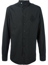 Dolce And Gabbana Embroidered Crown Bee Shirt Black