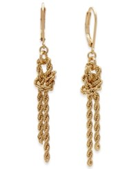 Charter Club Gold Tone Knotted Rope Chain Drop Earrings Only At Macy's