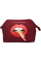 Charlotte Tilbury Hot Lips Printed Cotton Canvas Cosmetics Case One Size Colorless
