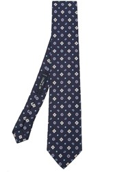 Etro Geometric Pattern Tie Blue