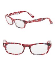 Corinne Mccormack 58.5Mm Cindy Square Reading Glasses Red
