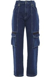 House Of Holland Woman High Rise Wide Leg Jeans Mid Denim