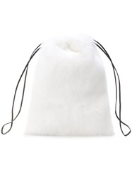 Simonetta Ravizza Furrissima Mini Backpack White