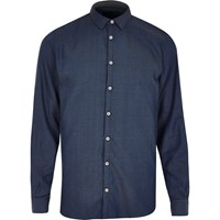 Vito River Island Mens Dark Blue Shirt