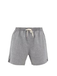 Schnayderman's Check Linen Blend Shorts Grey