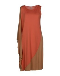 Pierantonio Gaspari Knee Length Dresses Salmon Pink