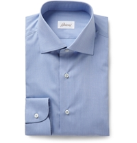 Brioni Blue Cotton Shirt