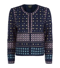 Juicy Couture Studded Ponte Co Ord Jacket Female Navy
