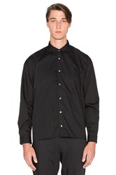 Robert Geller Photographer Button Up Black