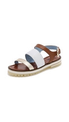 Studio Pollini Three Band Flat Sandals