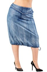 Standards And Practices Plus Size Women's Drawstring Hem Tencellyocell Skirt