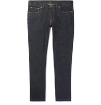 Brioni Slim Fit Stretch Denim Jeans Dark Denim