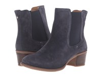 Hush Puppies Landa Nellie Navy Suede Women's Pull On Boots Blue