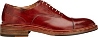 Harris Burnished Cap Toe Balmorals Red