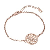 Hoochie Mama Rose Medallion Bracelet Rose Gold
