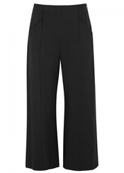 A.L.C. Marley Cropped Wide Leg Trousers Black