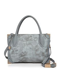Foley Corinna And Frankie Nubuck Satchel White Rock Gold