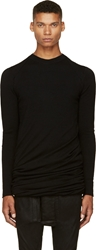 Thamanyah Black Wool Overlong Double Knit Sweater