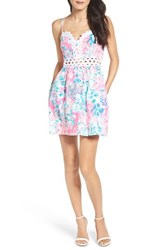 Lilly Pulitzerr Women's Pulitzer Rika Fit And Flare Dress Tiki Pink