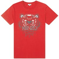 Kenzo Classic Tiger Print Tee Red