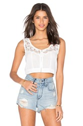 Amuse Society Spirit Woven Crop White