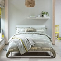 Scion Mr Fox Duvet Cover Silver Grey