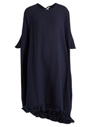 Rhode Resort Camille Open Back Cotton Kaftan Navy