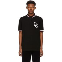 Dolce And Gabbana Black Logo Polo