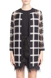 Women's Milly Embroidered Organza Cocktail Coat