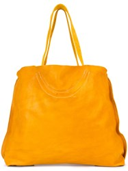 Guidi Oversized Tote Bag Men Horse Leather One Size Yellow Orange