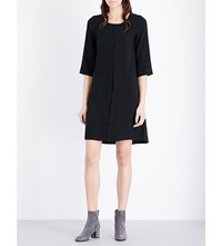The White Company Oversized Crepe Shirt Dress Black