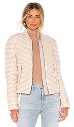 Soia And Kyo Bruna Puffer Jacket In Ivory. Pearl