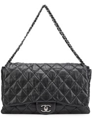 Chanel Vintage Maxi Accordion Flap Bag Black