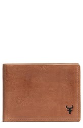 Trask Canyon Super Slim Leather Wallet Brown Tan