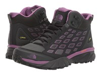 The North Face Endurus Hike Mid Gtx Phantom Grey Wood Violet Women's Shoes Black