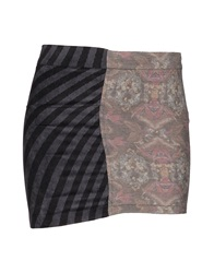Amaranto Mini Skirts Grey