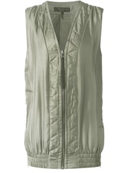 Rag And Bone Rag And Bone 'Zig Zag' Gilet Green