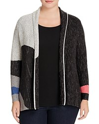 Nic And Zoe Plus Charged Up Color Block Cardigan Multi