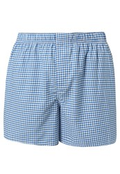 Gap Twill Gingham Boxer Shorts Soccer Blue