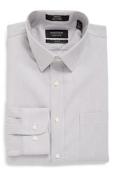 Men's Nordstrom Men's Shop Trim Fit Non Iron Stripe Dress Shirt Grey Filigree
