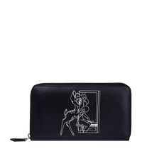 Givenchy Bambi Leather Zip Around Wallet Female Black