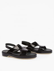 Adieu Black Leather Type 43 Sandals