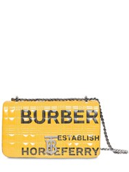 Burberry Sm Lola Logo Quilted Leather Bag Yellow